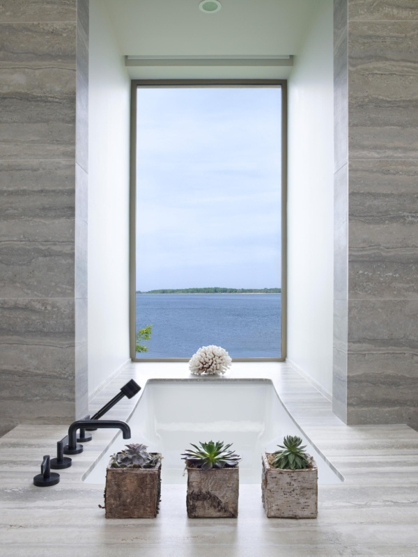Sag Harbor Modern Waterfront Master Bath