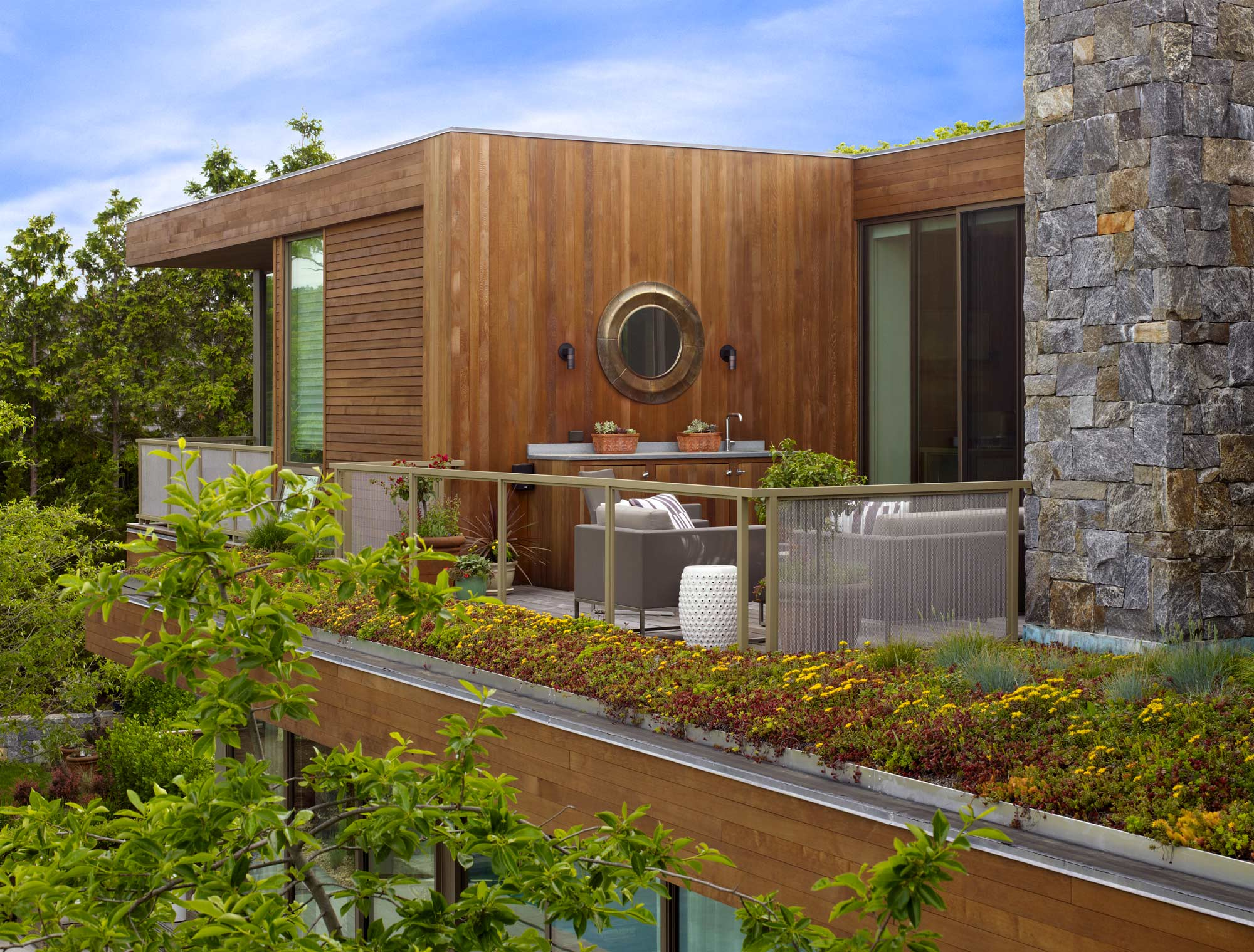Sag Harbor Modern Waterfront Exterior Patio Balcony