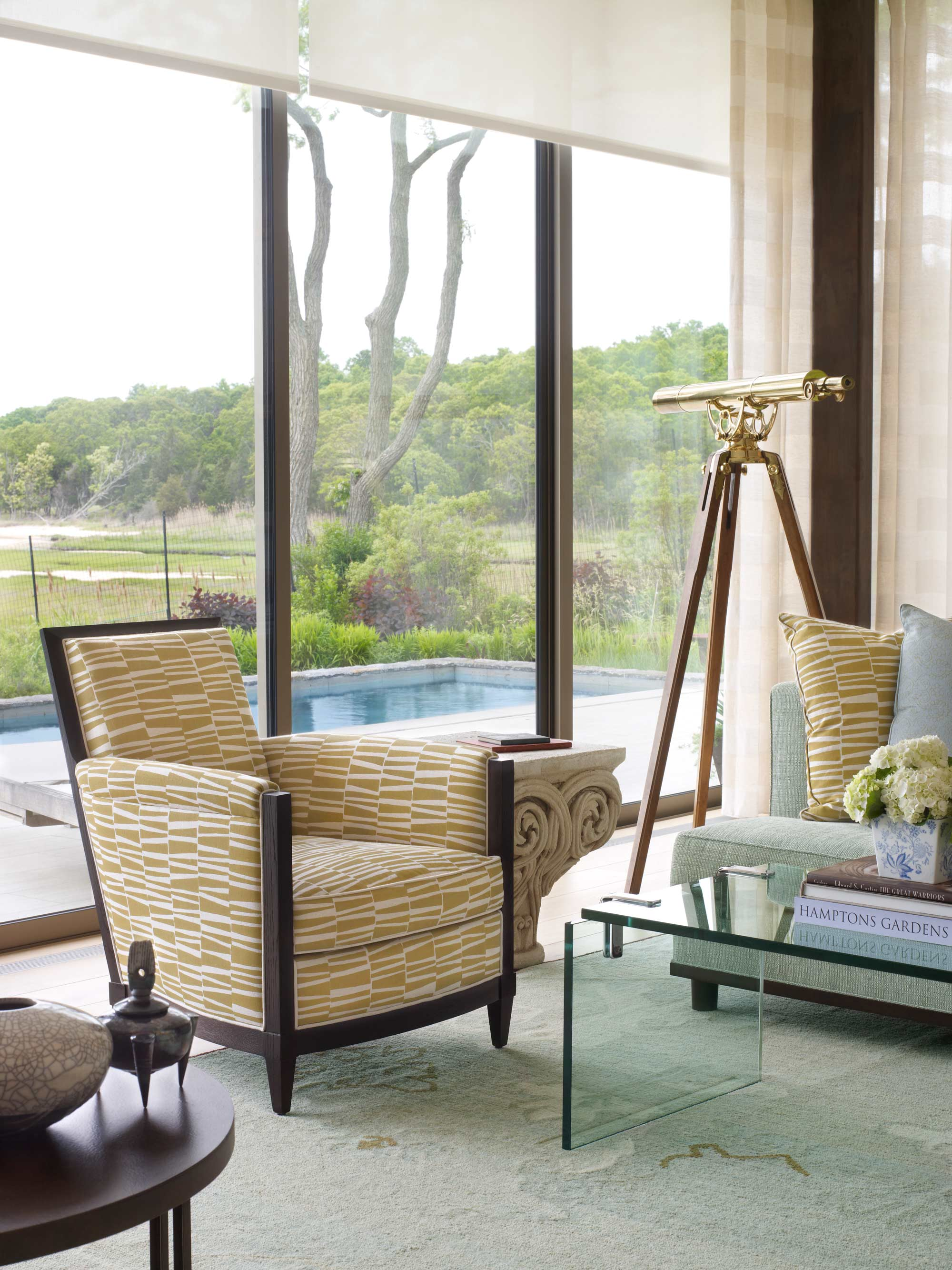 Sag Harbor Modern Waterfront Living Room Chair
