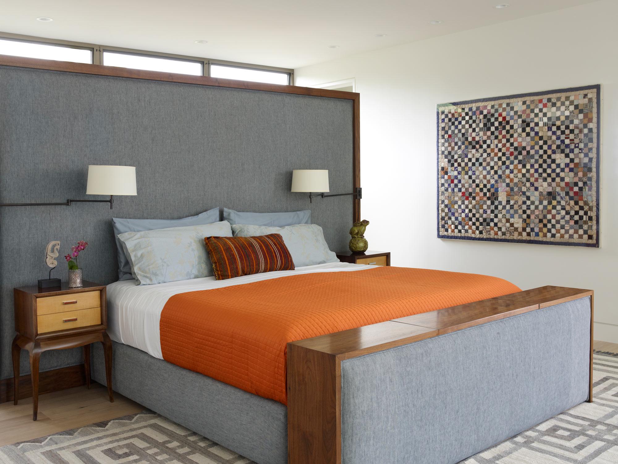Sag Harbor Modern Waterfront Master Bedroom