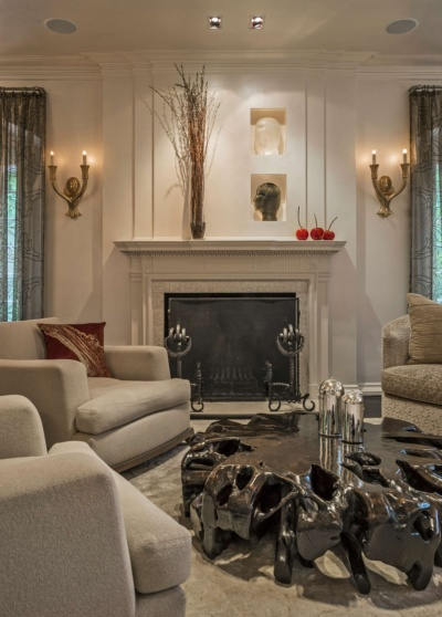 1920's Carriage House Conversion Main Fireplace