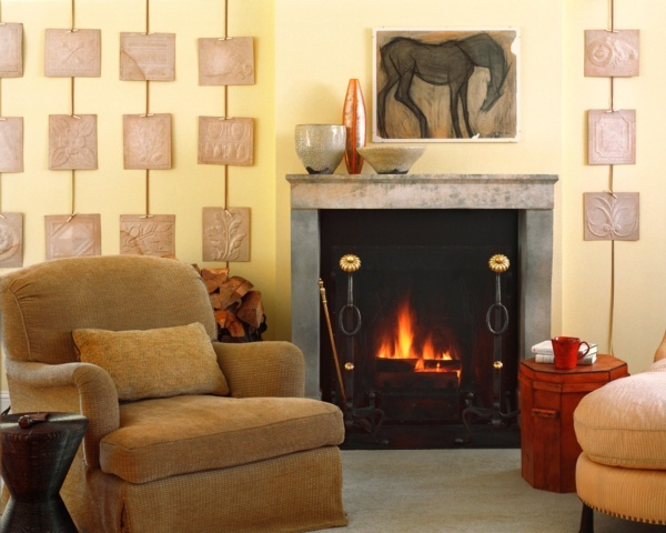 1920's Carriage House Conversion Fireplace