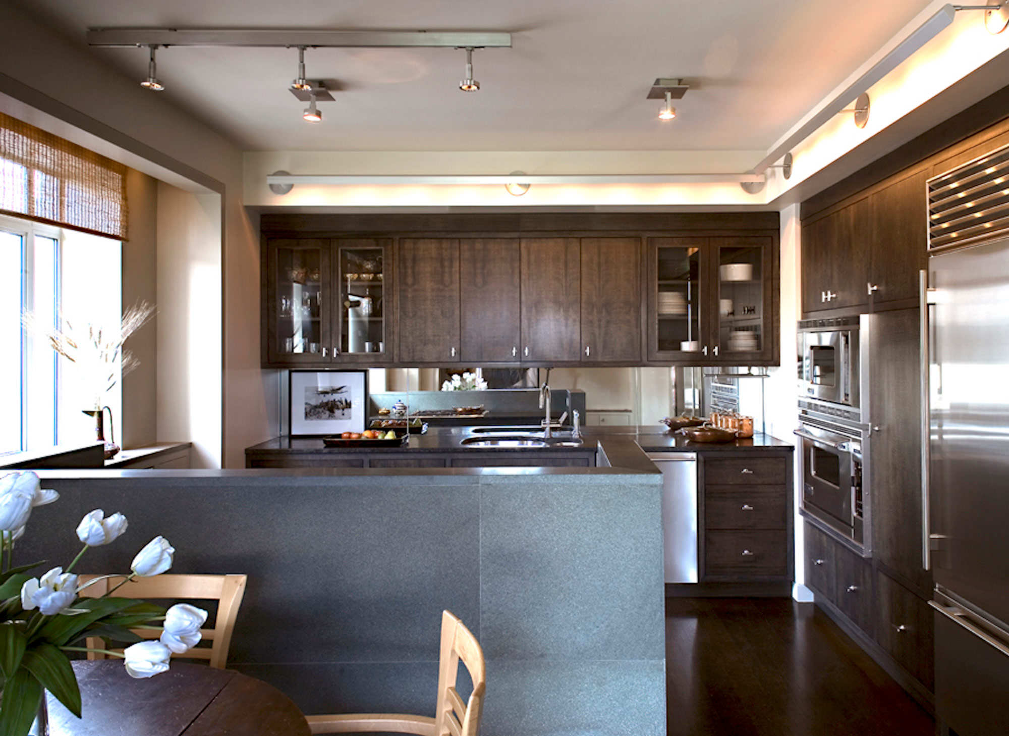 Central Park West Tower Apartment Kitchen Dining