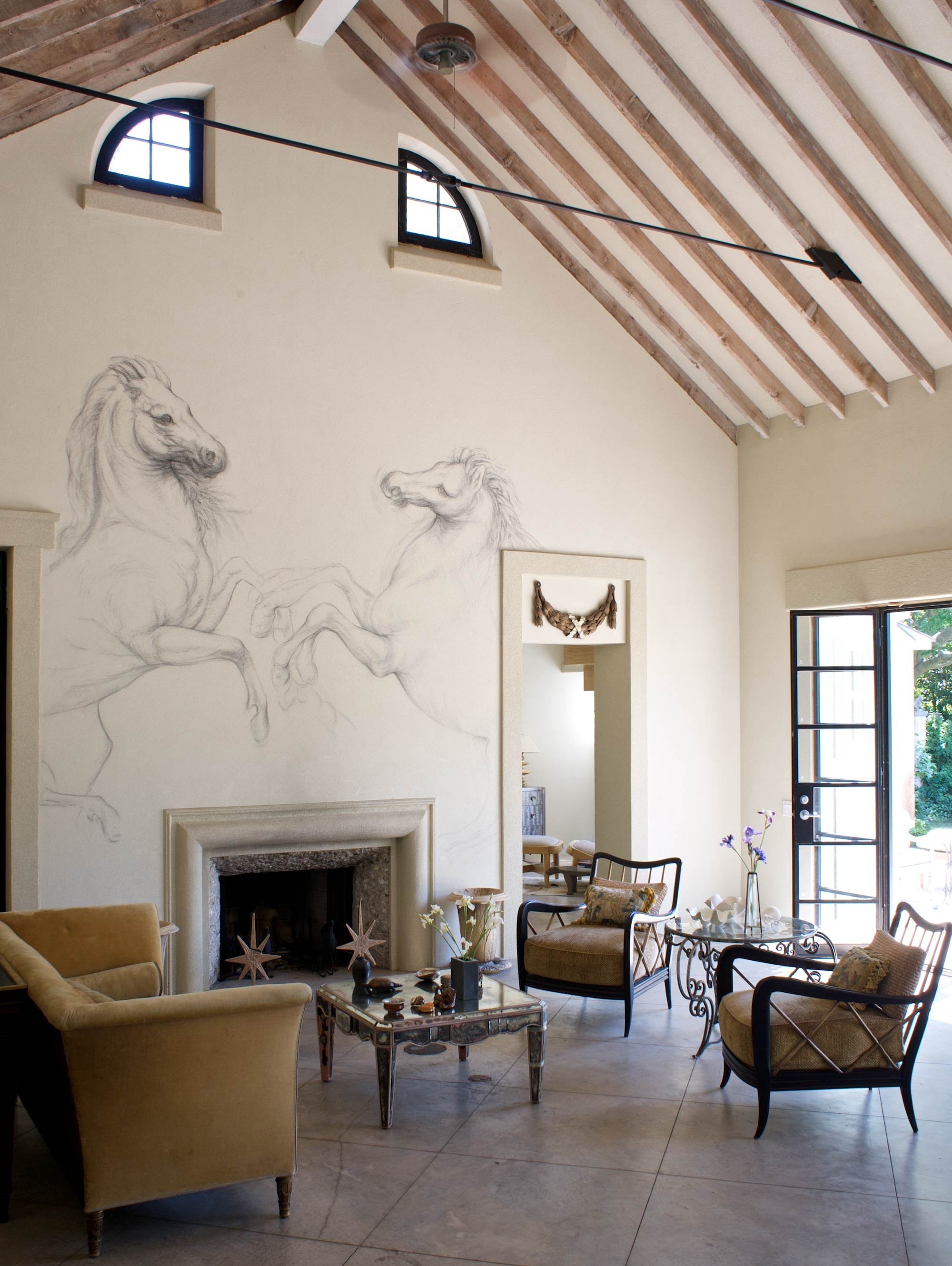 Hamptons Retreat Living Room Wall Painting