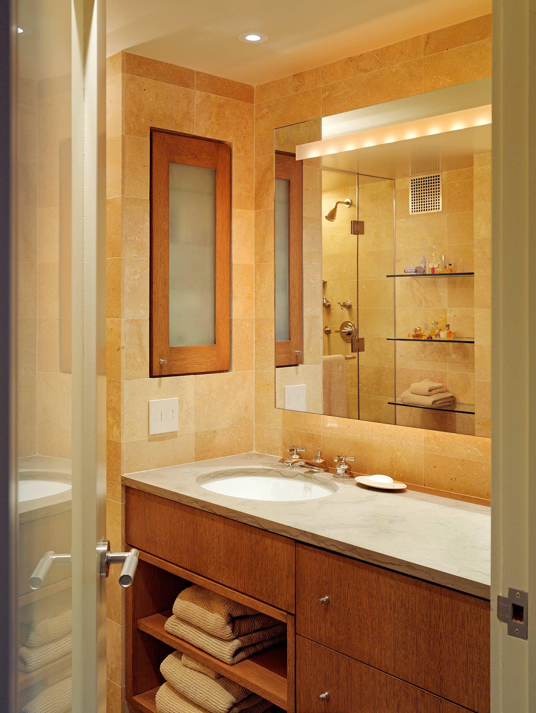 Upper East Side Family Apartment Bath Sink Mirror