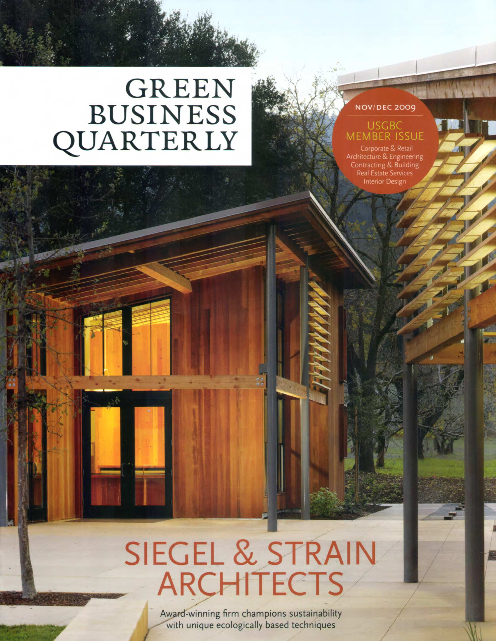 Green Business Quarterly Nov Dec 2009 Stedila Design